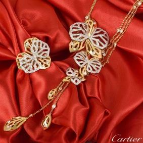 Cartier Caresse d'Orchidees Necklace & Ring Suite